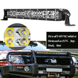 12inch Super Slim Led Light Bar 180w Single Row Spot Flood Combo 6500k Atv Suv
