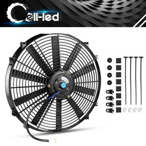 16 Inch Slim 3000cfm Electric Cooling Fan Radiator Reversible Kit Universal