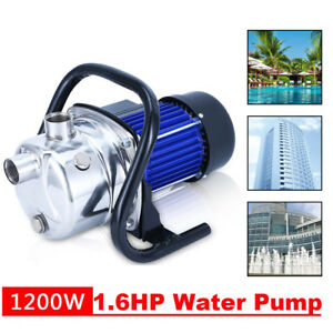 Water Booster Pump 1200w Shallow Well Home Garden Irrigation 1000gph Draining Ma