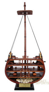 Uss Constitution Cross Section Handmade Wooden Ship Model