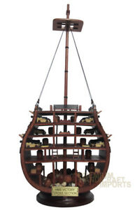 Hms Victory Cross Section Handmade Wooden Ship Model