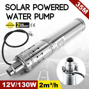 12v Dc 2m3 h Solar Powered Water Pump Farm ranch Submersible Hole Deep Well Ma