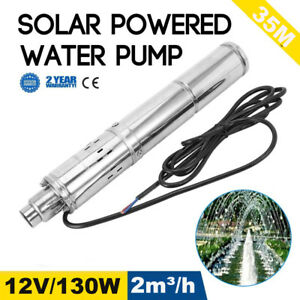 New 12v 130w 2m3 h Stainless Shell Submersible 1 Deep Well Solar Water Pump Ma