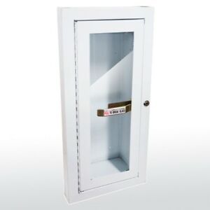 Sandusky Buddy Products Semi Recessed Fire Extinguisher Cabinet 8012 9 White