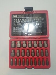 Mac Tools 25 pc Multi spline Screw And Bolt Extractor Set Scex25s