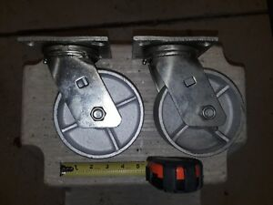 Two Heavy Duty Faultless Brand All Steel 5 Casters