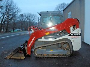 2018 Takeuchi Tl10v2 Trackloader Cab W Heat Ac 2 Speed Only 158 Hours