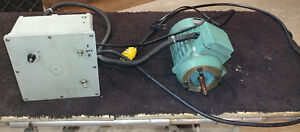 Denford Orac Cnc Lathe Asea Spindle Motor 1 2 Hp W Variable Speed Control L15r