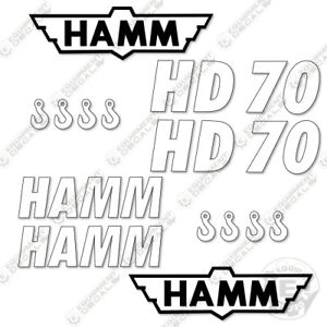 Hamm Hd70 Vibratory Smooth Drum Roller Decals Hd 70