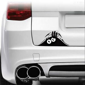 Peaking Trunk Car Sticker Bumper Window Decal Black White Decor Waterproof Funny