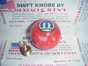 Mopar Dodge Plymouth Chrysler Custom Orang Pearl Shift Knob Hot Rod Rat Rod