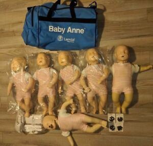 6x Laerdal Baby Infant Cpr Ems Emt Training Nursing Simulator Mannequin Doll