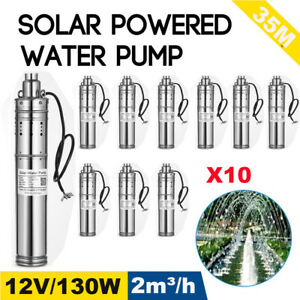 10x 12v 130w 2m3 h Stainless Shell Submersible 1 Deep Well Solar Water Pump Ma