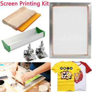 5set Screen Printing Aluminum Frame hinge Clamp emulsion Coater squeegee Braw