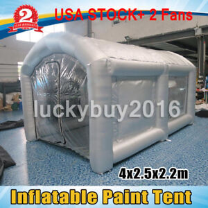 Inflatable Car Workstation Spray Paint Booth Painting Booth Tent 4x2 5x2 2m