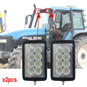 For New Holland 8670a 8770a 8870a 8970a Tm115 9846126 Led Tractor Lights X2pcs