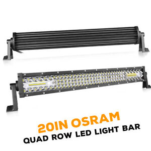 20inch 4 Row Led Light Bar 780w Spot Flood Beam 6000k Driving Truck Utv Off Road