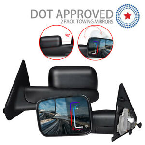 Left right 02 08 Fits Dodge Ram 1500 03 09 2500 3500 Towing Extend Side Mirrors