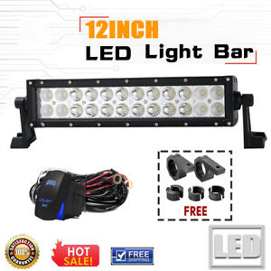 Dot 12inch Led Work Light Bar Led Spot Flood Beam Offroad Fog Driving Light