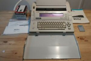 Vintage Smith Corona Typewriter Word Processor Mark 5 V Pwp With Extras