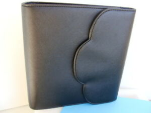 New Classic 1 5 Ring Black Sim Leather Franklin Covey Planner binder Snap