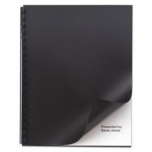 Opaque Plastic Presentation Binding System Covers 11 X 8 1 2 Black 50 pack