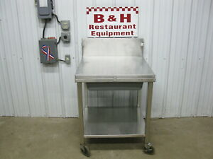 Amtekco 29 Stainless Steel Heavy Duty Mobile Breading Table Removable Top Lid
