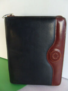 Classic 1 5 Full grain Leather Franklin Covey zip Planner binder Black Brown