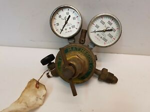 The Matheson Co Acetylene oxygen Pressure Regulator W 2 Gauges Free Shipping