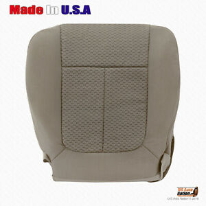 2011 2014 Ford F150 Front Driver Bottom Replacement Adobe Tan Cloth Seat Cover