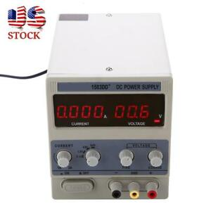 New 15v 3a Dc Power Supply Adjustable Dual Digital Variable Precision Lab Grade