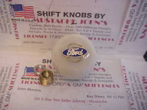 Ford Licensed Custom Shift Knob Oval Logo Car Truck Hot Rod White