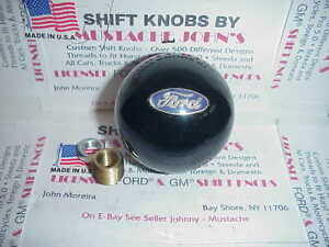 Ford Licensed Custom Shift Knob Oval Logo Car Truck Hot Rod Black 2 1 4