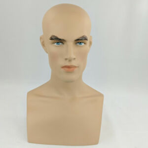 Less Than Perfect 413 f Male Fleshtone Mannequin Head Form Display With Bust