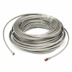 59ft Silver Tone Metal K Type Thermocouple Extension Wire