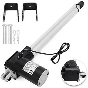 12 6000n Electric Linear Actuator 1320 Pound Max Lift Heavy Duty 24v Dc Motor