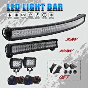 54 312w Curved Quad Row Led Light Bar Spot Flood Combo For Ford 144w Light Bar