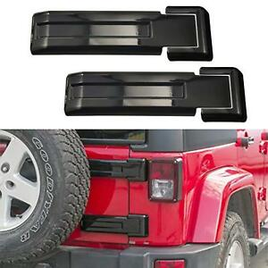 Black Tailgate Hinge Trim Covers Fit 2007 2018 Jeep Wrangler Jk Unlimited Parts