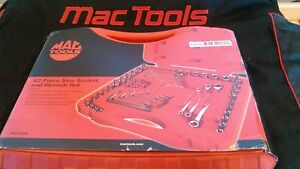 Mac Tools 62 Piece Star Socket And Wrench Set Smxt62b