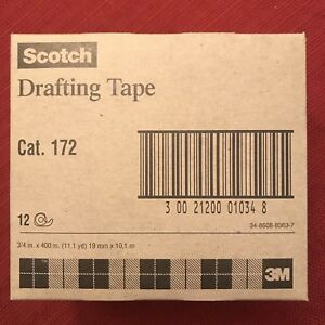 3m Scotch Drafting Tape Category 172 12 Rolls 3 4 In X 400 In Discontinued