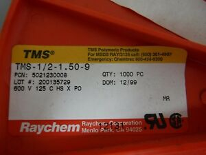 Reel 900 Raychem Tyco Tms 1 2 1 50 9 Heat Shrink Cable Marker 1 2 Sleeves
