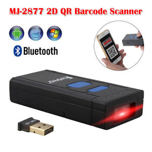 Portable Bluetooth Wireless 2d Qr Barcode Scanner Reader Endurable For Ios Win10