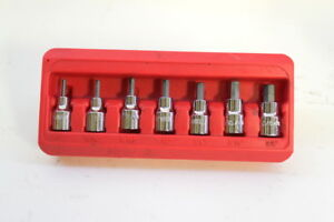 Mac Tools Sxas7pt 3 8 Drive Sae 7 Piece 7pc Short Hex Driver Set In Holder