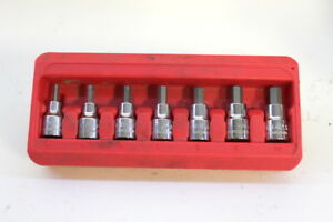 Mac Tools Sxmas7pt 7pc Metric Short Hex Driver Set 3 8 Drive With Holder