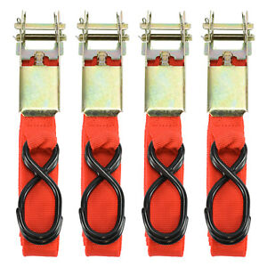 4pc 1 X 15ft Ratchet Tie Down Cargo Straps Moving Hauling Truck Motorcycle