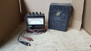 Vintage Yokogawa Portable Ac Voltmeter Type 2013 W case No Glass