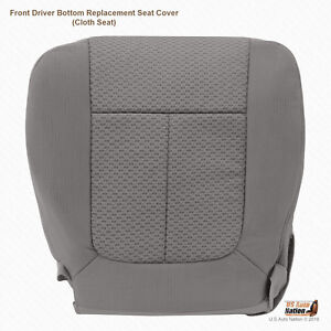 Driver Bottom Replacement Cloth Seat Cover 2009 2010 Ford F150 Med Stone Gray