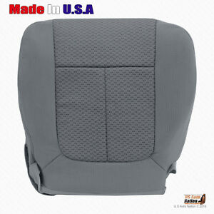 For 2011 2012 2013 2014 Ford F150 Xl Stx Passenger Bottom Cloth Seat Cover Gray