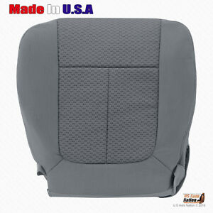 2011 2014 Ford F150 Driver Side Bottom Replacement Cloth Seat Cover Steel Gray