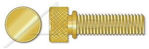 100 Pcs 12 24 X 1 Thumb Screws Knurled Head With Shoulder Brass